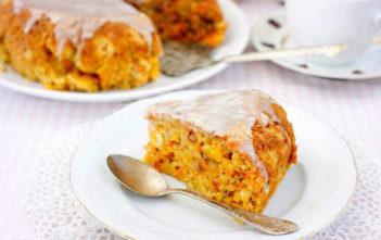 Морковный кекс с апельсиновой глазурью
