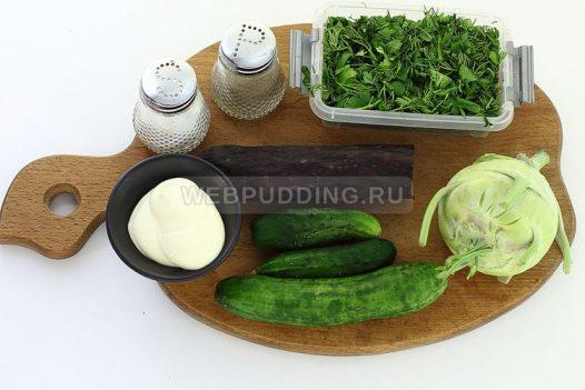 salat iz kolrabi s kolbasoj 1